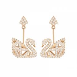 Facet Swan Pierced Earrings
