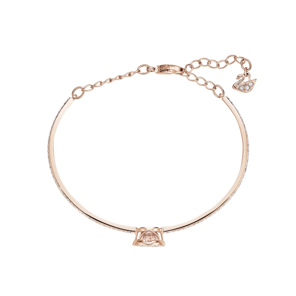 Sparkling Dance Bangle Round, Czwh/cry/ros