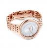 Zegarek Crystalline Chic - Metalowa Bransoleta W Kolrze Różowego Złota