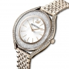 Zegarek Crystalline Aura, bransoleta z metalu, w odcieniu złota, powłoka PVD w odcieniu szampańskiego złota