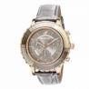 Chronograf Octea Lux, pasek ze skóry, szary, powłoka PVD w odcieniu różowego złota