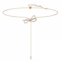 Naszyjnik W Kształcie Litery Y Lifelong Bow, Biały, Różnobarwne Metale