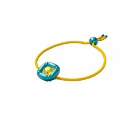 Bransoletka Dulcis, żółty, Powłoka W Kolorze Niebieskim