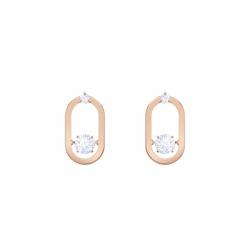 Sparkling Dance Pierced Earrings Oval Studs