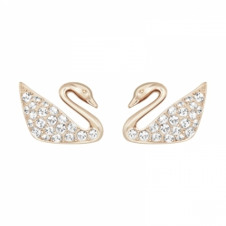 Swan Pierced Earrings Mini