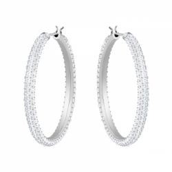Stone Pierced Earrings Hoop