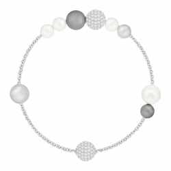 Swarovski Remix Collection Mixed Gray Crystal Pearl