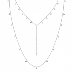 Moonsun Necklace Layer, Czwh/rhs