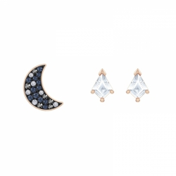 Swaroviski Symbolic Pierced Earrings Asymmetric Set