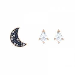 Swaroviski Symbolic Pierced Earrings Asymmetric Set
