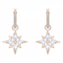 Swaroviski Symbolic Pierced Earrings Mini Hoop Star