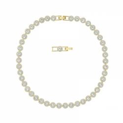 Naszyjnik Angelic, biały, w odcieniu złota