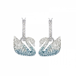 Iconic Swan Pierced Earrings Blue