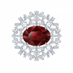 Louison Red Brooch