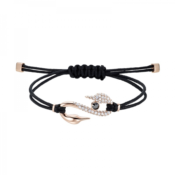 Swarovski Power Collection Bracelet S Hook, Jet/cry/ros M