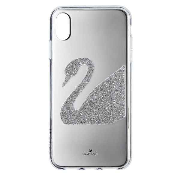 Swan Fabric Silver Iphone Xs Max Case