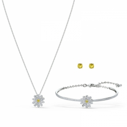 Zestaw Eternal Flower, żółty, różnobarwne metale