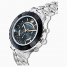 Octea Lux Chrono Watch, Metal bracelet, Dark gray, Stainless steel