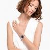 Zegarek Crystalline Glam, bransoleta z metalu, niebieski, powłoka PVD w odcieniu różowego złota