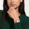 Zegarek Stella, bransoleta z metalu, biały, powłoka PVD w odcieniu różowego złota
