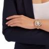 Crystalline Oval Metal Bracelet