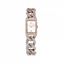 Zegarek Cocktail - Metalowa Bransoleta W Kolorze Różowego Złota