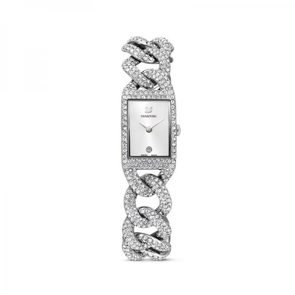 Zegarek Cocktail - Metalowa Bransoleta W Kolorze Srebrnym