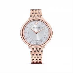 Zegarek Crystalline Chic - Metalowa Bransoleta W Kolrze Różowego Złota, Pro