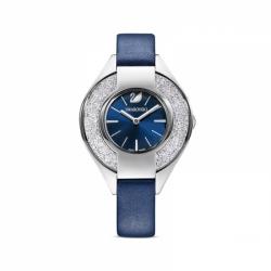 Zegarek Crystalline Sporty - Niebieski Skórzany Pasek