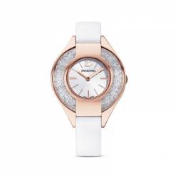 Zegarek Crystalline Sporty - Biały Skórzany Pasek