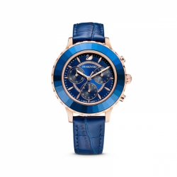 Zegarek Octea Lux Chrono - Niebieski Skórzany Pasek