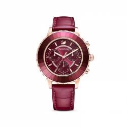 Zegarek Octea Lux Chrono - Czerwony Skórzany Pasek