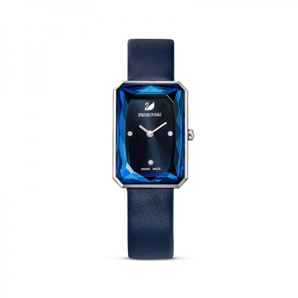 Zegarek Uptown Niebieski Skórzany Pasek