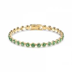 Bransoletka Tennis - Zielone Kryształy