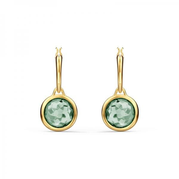 Kolczyki Tahlia Mini Koła - Zielony Kryształ, Gos